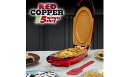 Multifuncţională plită electrică - 5minute CHEF red COPPER PAN